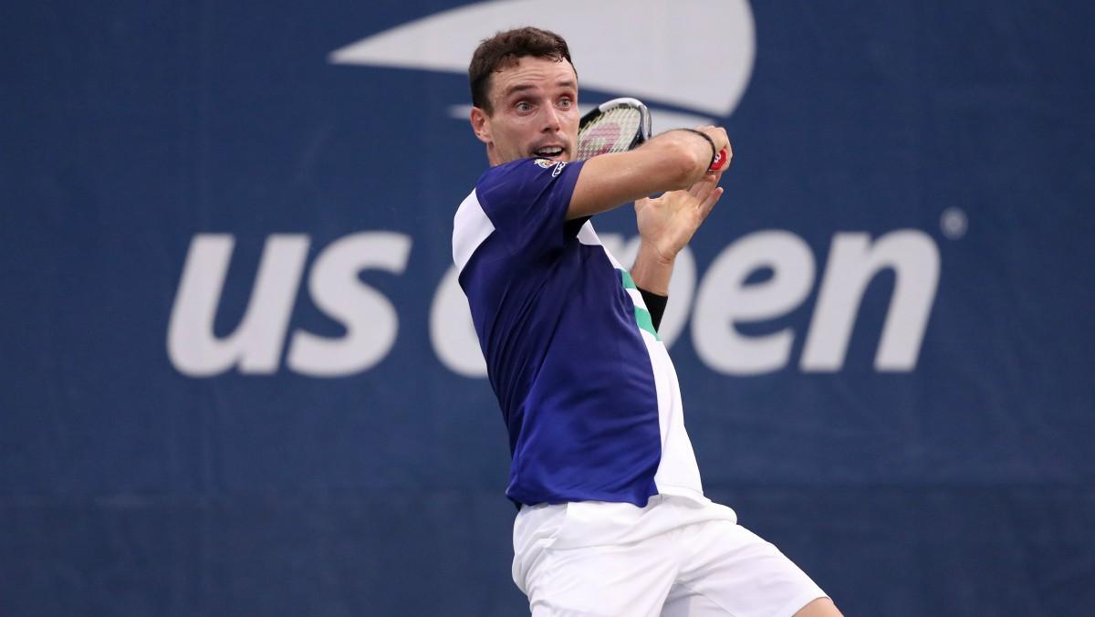 Roberto Bautista, en un partido en el US Open. (Getty)
