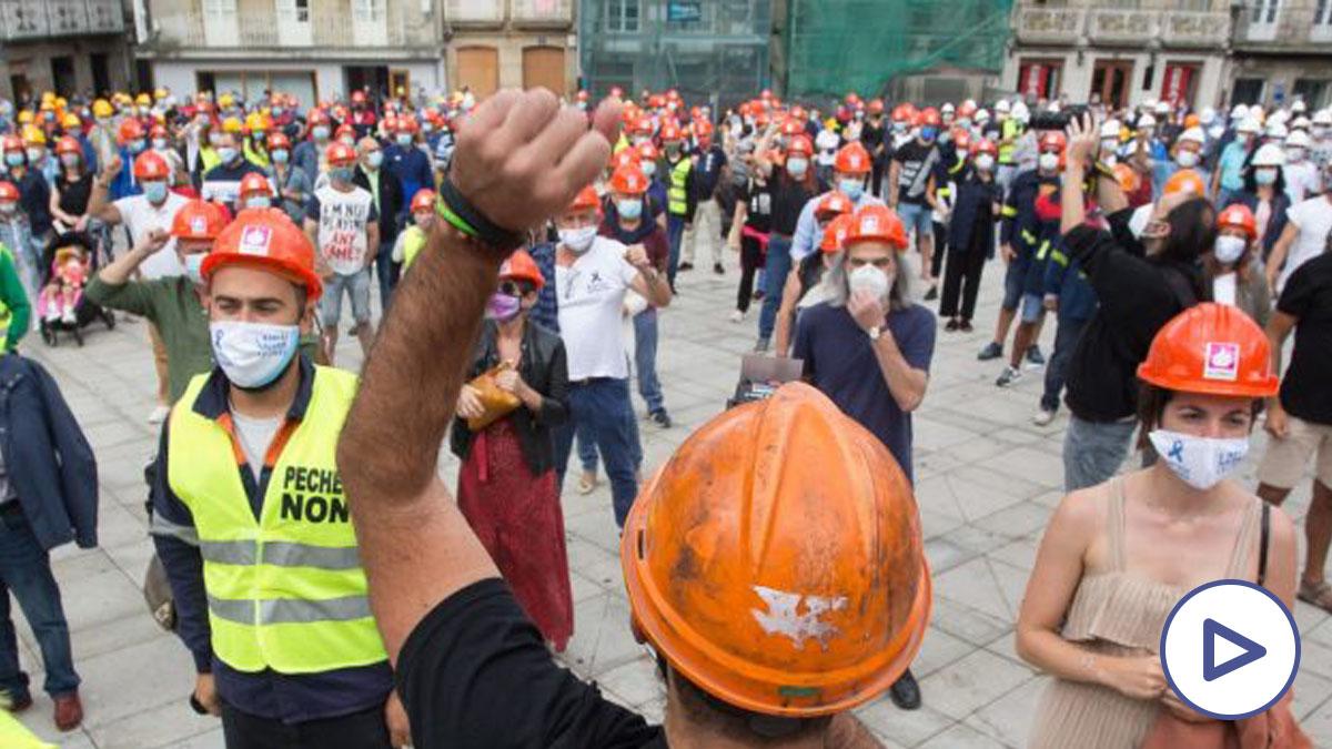 Manifestación trabajadores de Alcoa (Foto_ Europa Prees)