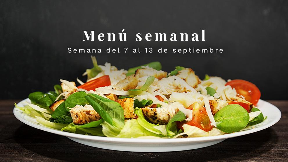 Menú semanal saludable: Semana del 7 al 13 de septiembre de 2020