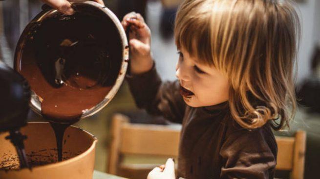 chocolate niños