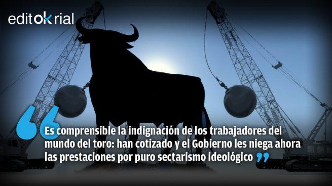 Cornada socialcomunista al mundo del toro