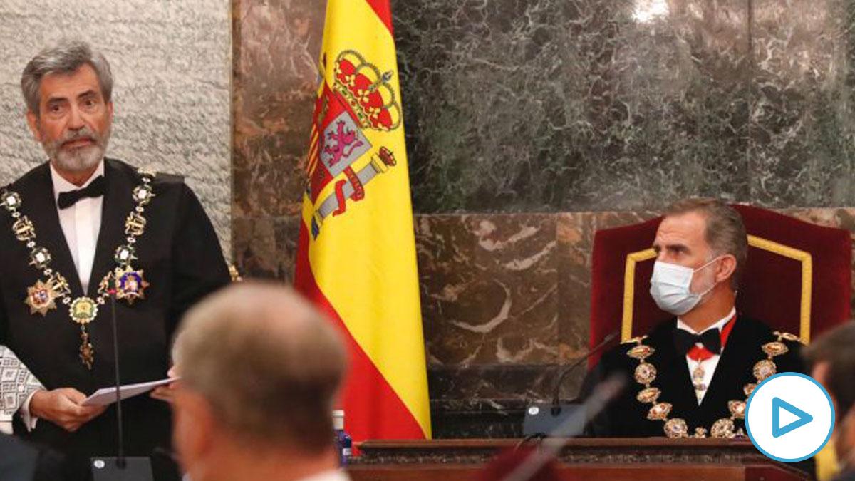 El presidente del Supremo lamenta ante el Rey la «anomalía» de que no se renueve el CGPJ.