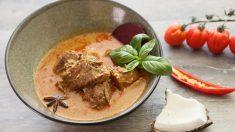 Estofado de buey al curry