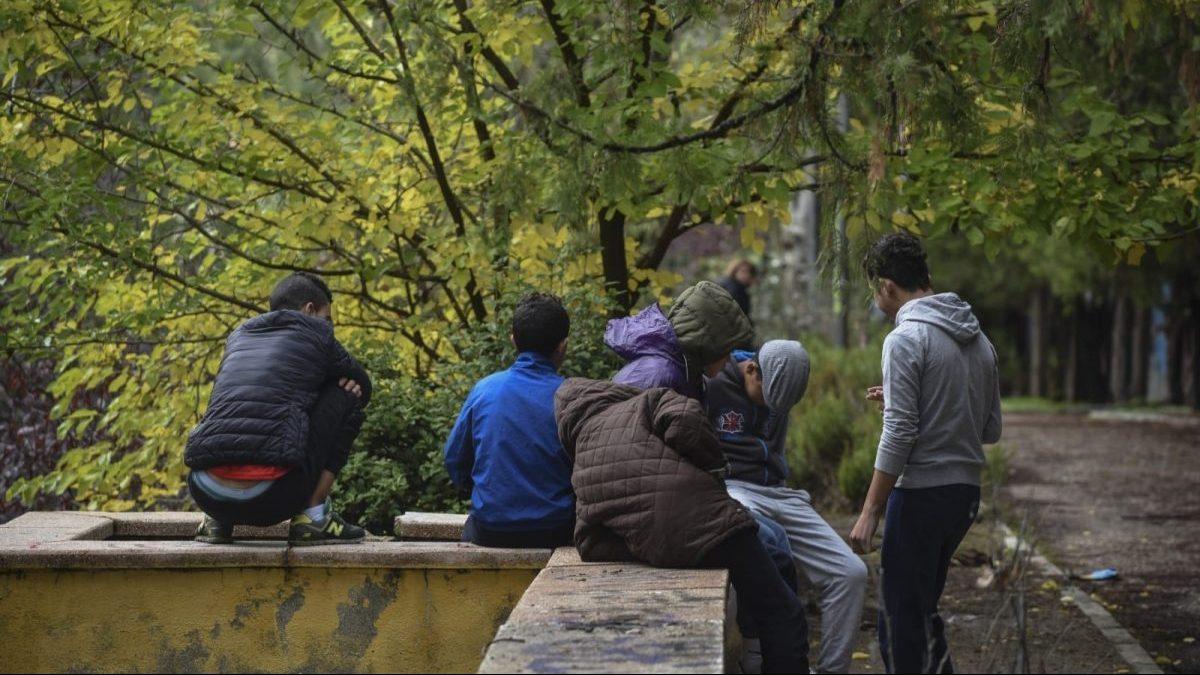 Grupo de menores extranjeros no acompañados (menas) en España. (Foto: EP)