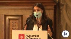 La ministra de Igualdad, Irene Montero, durante una intervención en el Ayuntamiento de Barcelona.