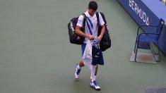 Novak Djokovic tras ser descalificado del US Open. (AFP)