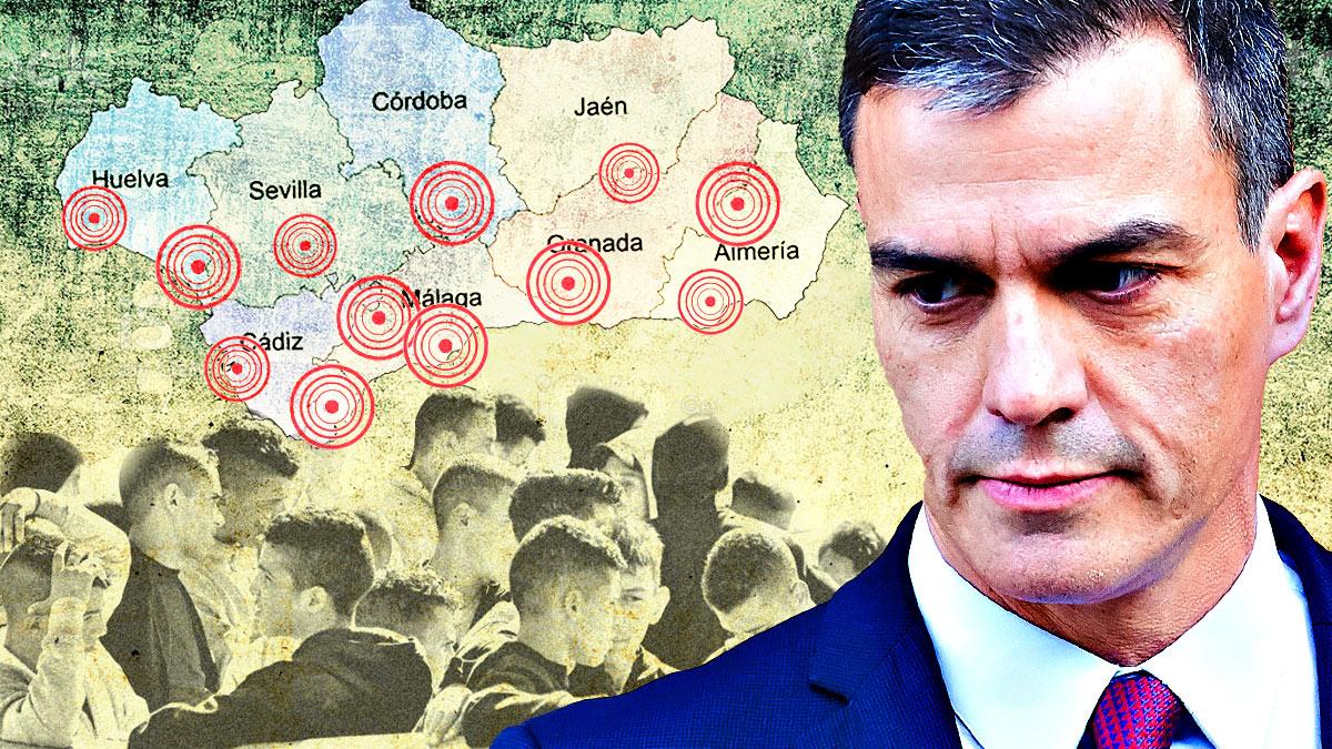 Presión extrema de Sánchez a Andalucía: la comunidad soporta un 40% de los menas acogidos en España.