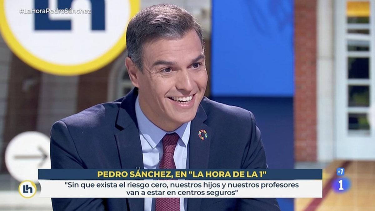 Sánchez en La Hora de La 1
