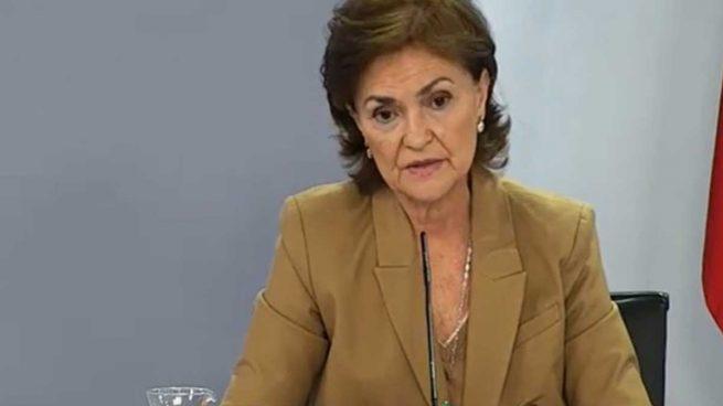 Carmen Calvo a su círculo más cercano: «Puede haber elecciones en octubre de 2021»
