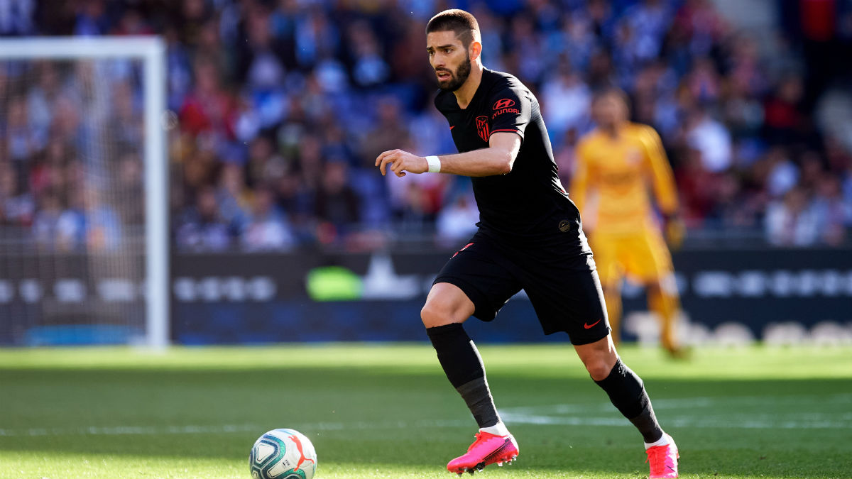 Carrasco, en un partido con el Atlético de Madrid esta temporada. (Getty)