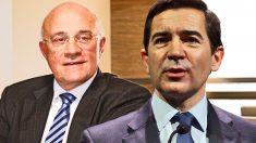 El presidente de Sabadell, Josep Oliu, y el presidente de BBVA, Carlos Torres.