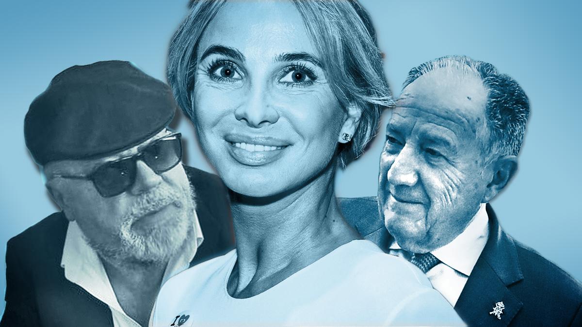 José Manuel Villarejo, Corinna Sayn-Wittgenstein  y Félix Sanz Roldán