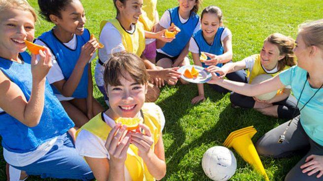 dieta niños deporte