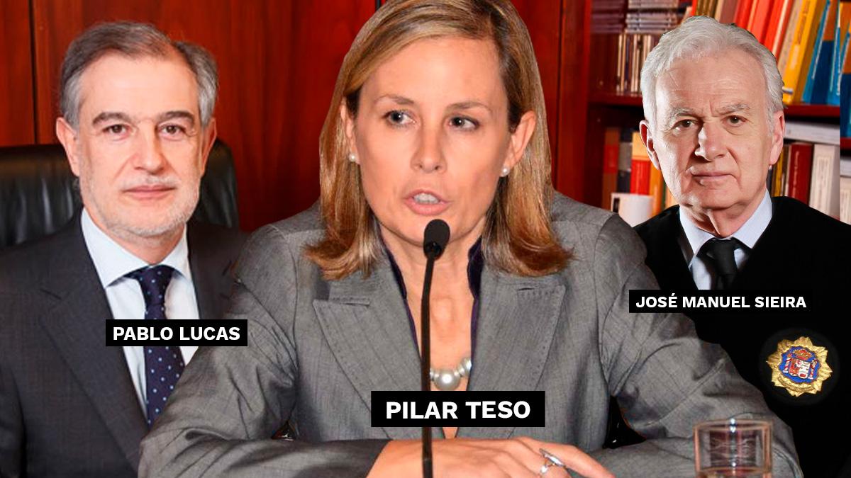 Pablo Lucas, Pilar Teso y José Manuel Sieira