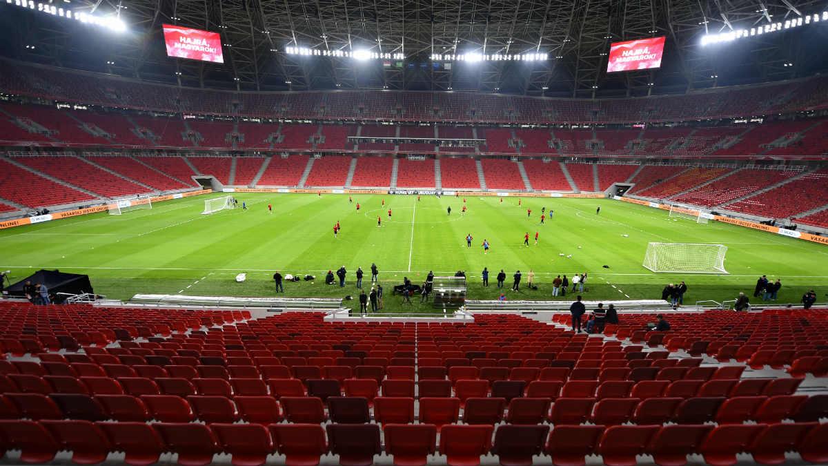 Una imagen del Puskas Arena donde se jugará la Supercopa de Europa. (AFP)