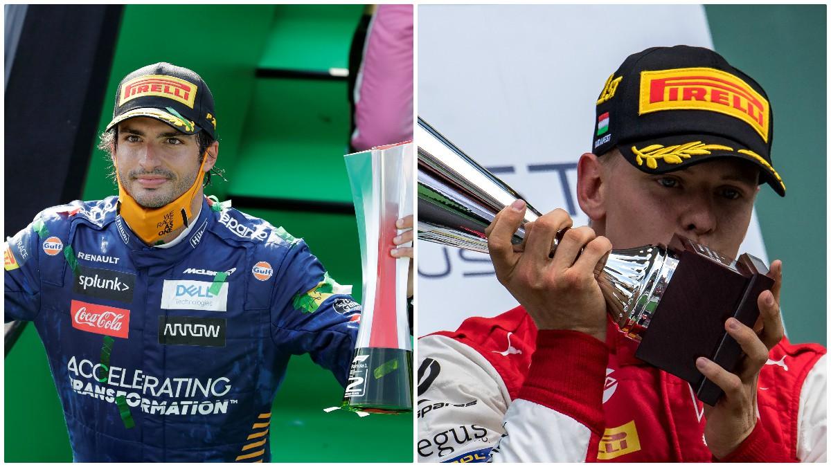 Carlos Sainz y Mick Schumacher