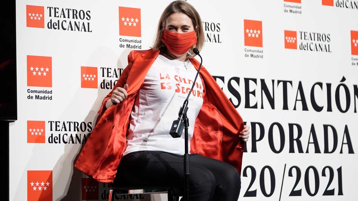Marta Rivera de la Cruz en la presentación de la temporada de Teatros del Canal. Foto: EP
