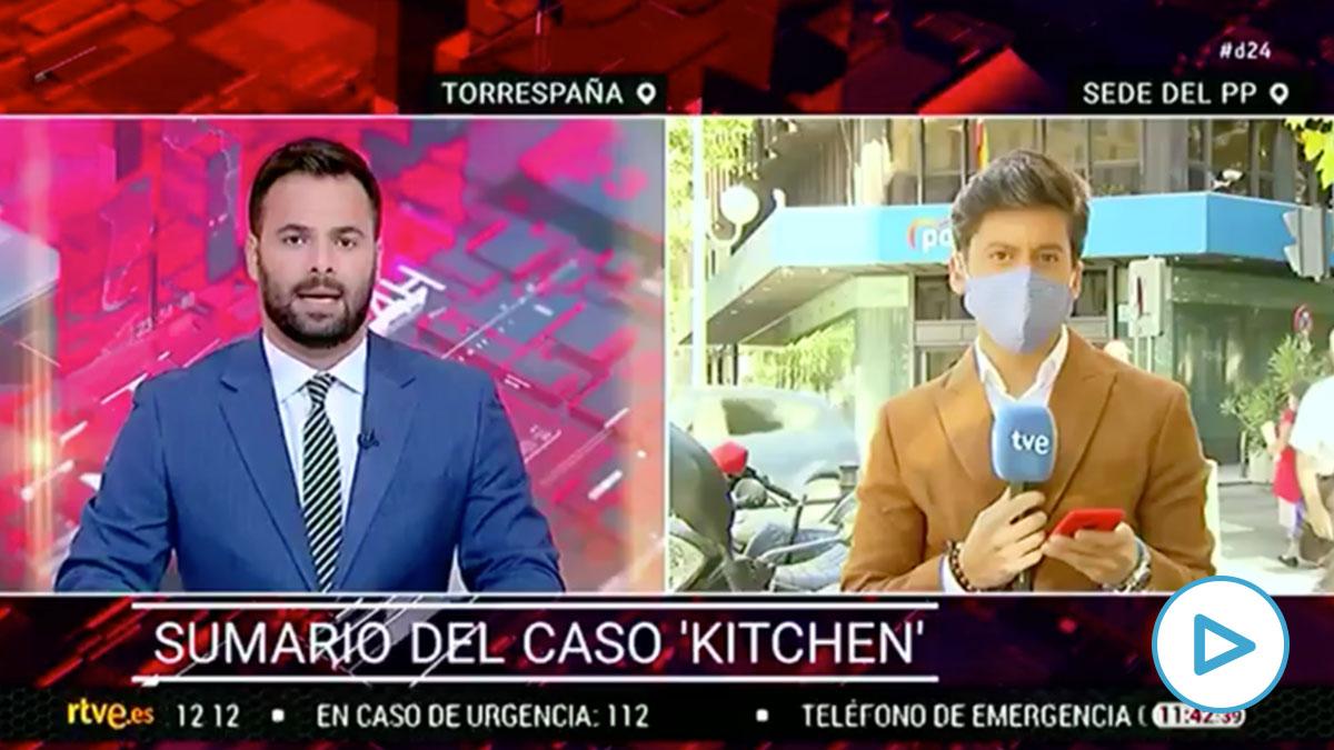 Directo de TVE desde la sede del PP por el caso Fondos Reservados