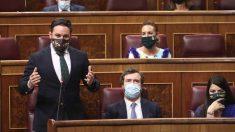El presidente de Vox, Santiago Abascal, interviene durante la sesión de control al Gobierno en el Congreso, en Madrid (España) a 9 de septiembre de 2020. Foto: EP