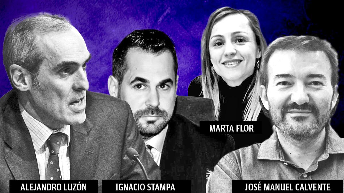 (De izquierda a derecha) Alejandro Luzón, Ignacio Stampa, Marta Flor y José Manuel Calvente