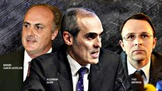 (De izquierda a derecha) Manuel García-Castellón, Alejandro Luzón e Yves Bertossa