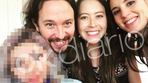 Selfie de Pablo Iglesias e Irene Montero junto a sus amigos bolivianos y la diputada conseguidora de los contratos a la consultora Neurona.