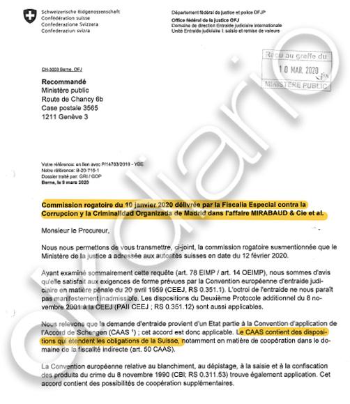 Luzón y Bertossa puentean a Castellón y le escamotean los 'papeles' de los testaferros de Juan Carlos I
