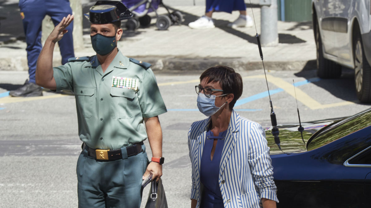 María Gámez, directora general de la Guardia Civil, en una visita a Navarra. (Foto: Europa Press)