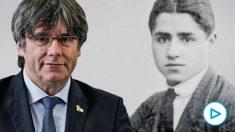 Carles Puigdemont y su abuelo, Francesc Puigdemont.
