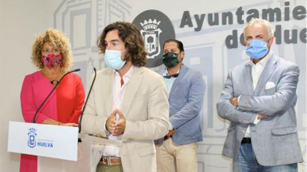 Ediles del PP en el Ayuntamiento de Huelva (Foto: EUROPA PRESS).