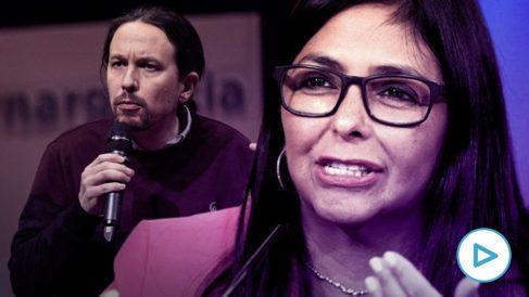 Pablo Iglesias y Delcy Rodríguez