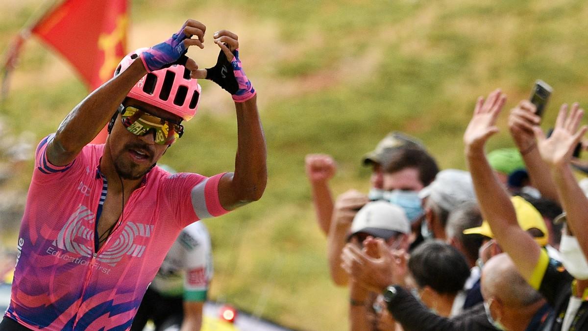Daniel Felipe Martínez celebra la victoria. (AFP)