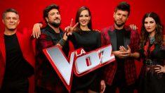 Los coache sy presentadora de 'La Voz'