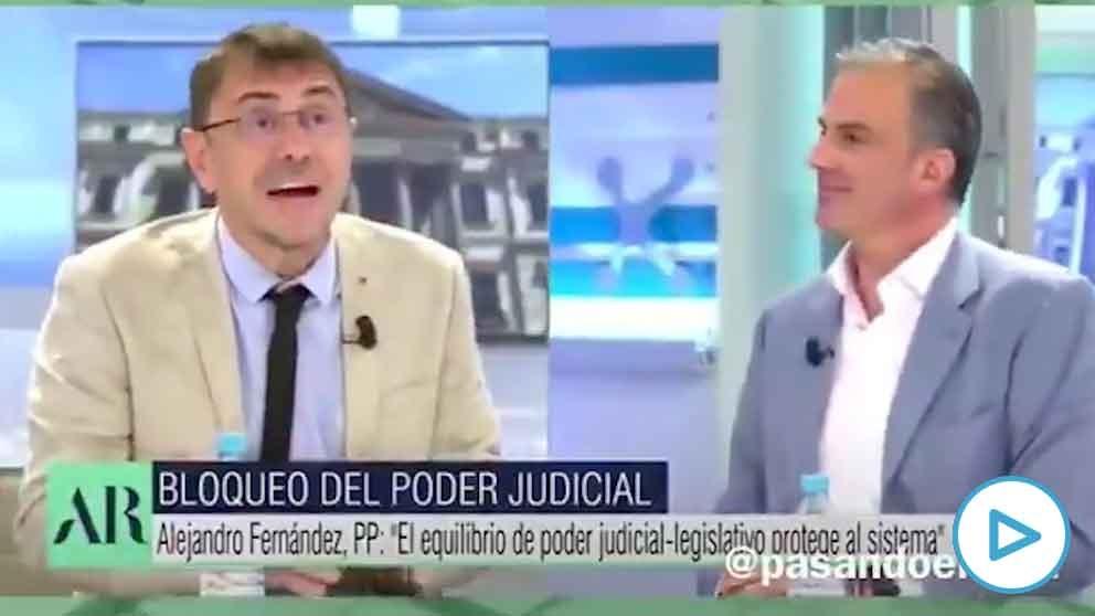 Javier Ortega Smith y Monedero en Telecinco