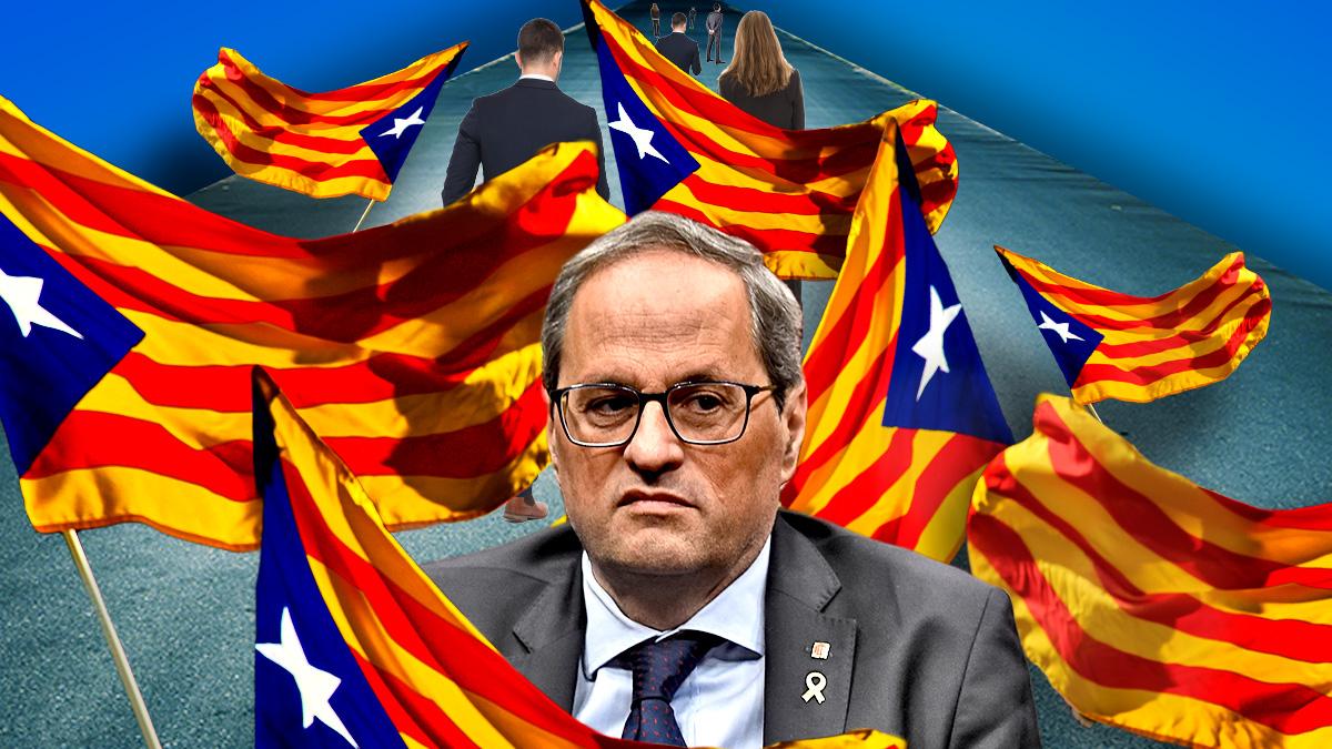Los empresarios de Cataluña exigen en la Diada a Torra que no ahuyente a los clientes españoles
