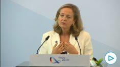 Calviño desmiente a Sánchez- los Presupuestos son sólo «un instrumento eficaz» para los fondos europeos