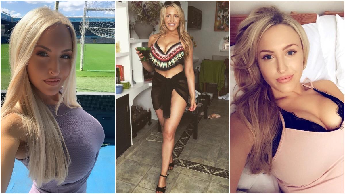 Emma Louise Jones, en fotos de Twitter.