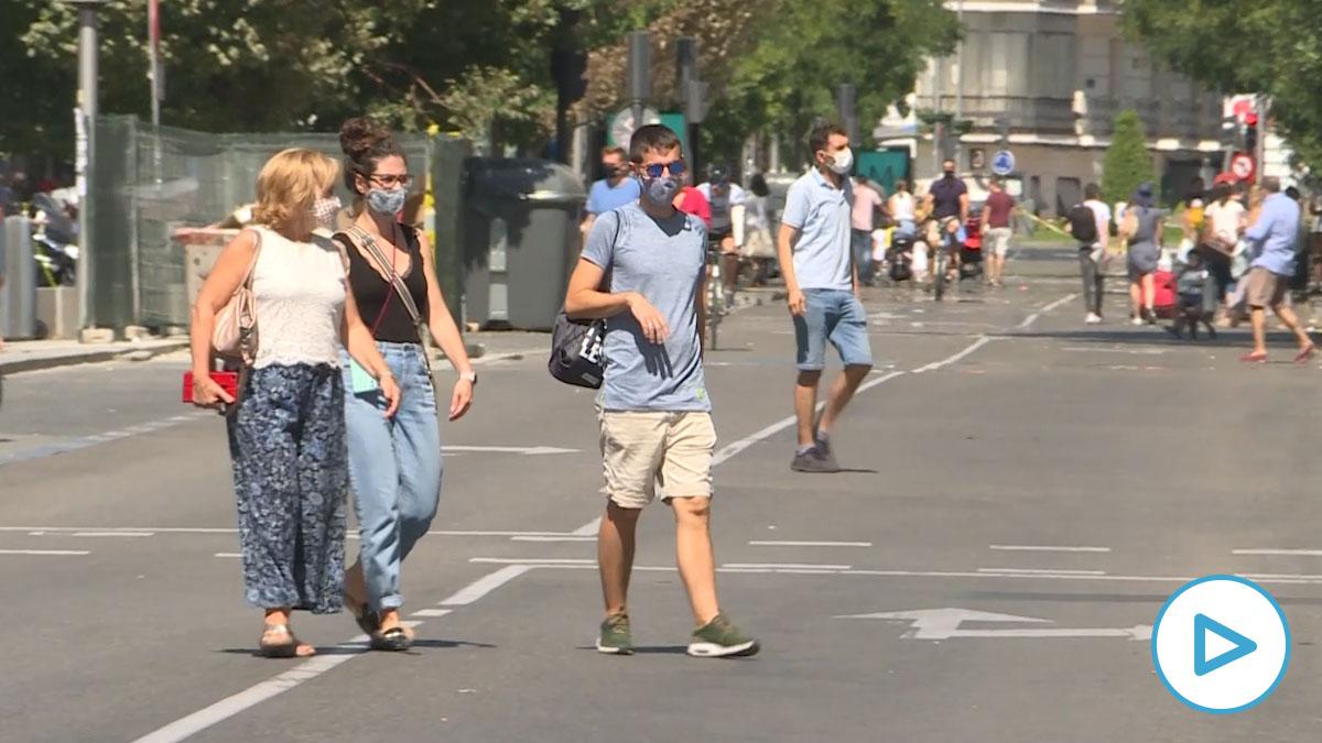 Estas son las calles que Madrid vuelve a peatonalizar el fin de semana para garantizar la distancia de seguridad