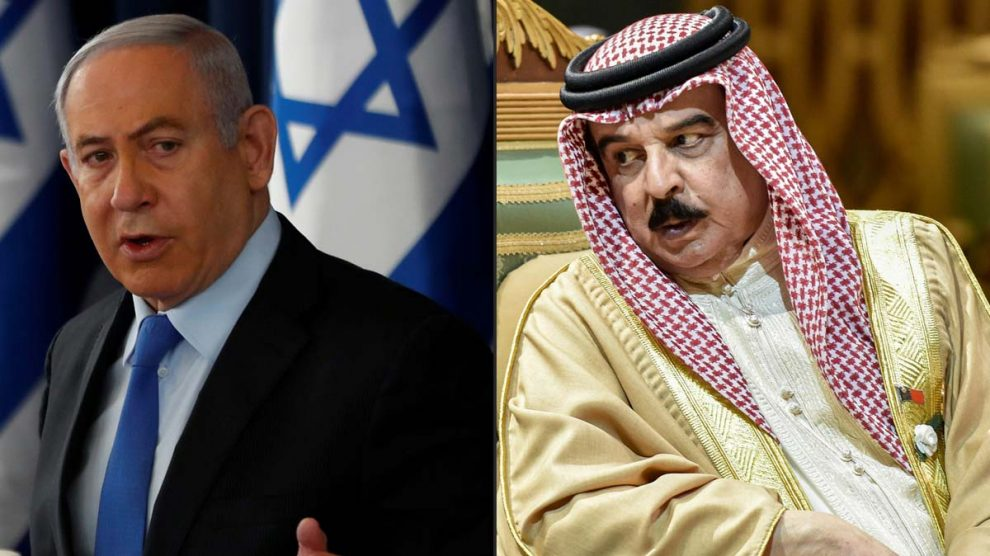 Netanyahu y Hamad bin Isa Al Khalifa, rey de Baréin (Foto: AFP)