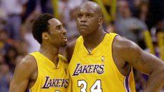 Kobe Bryant y O'Neal, con los Lakers (Getty).