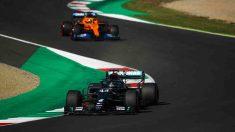 Lewis Hamilton durante el Gran Premio de la Toscana. (AFP)