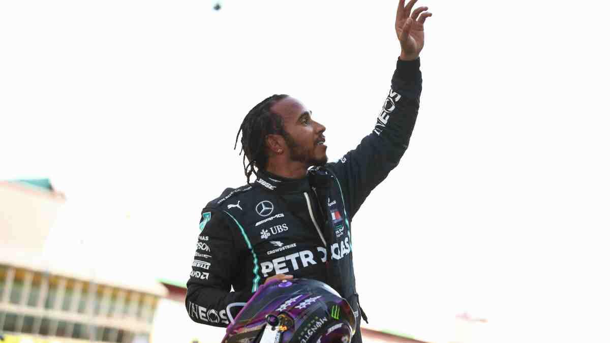 Lewis Hamilton, durante el Gran Premio de la Toscana. (AFP)