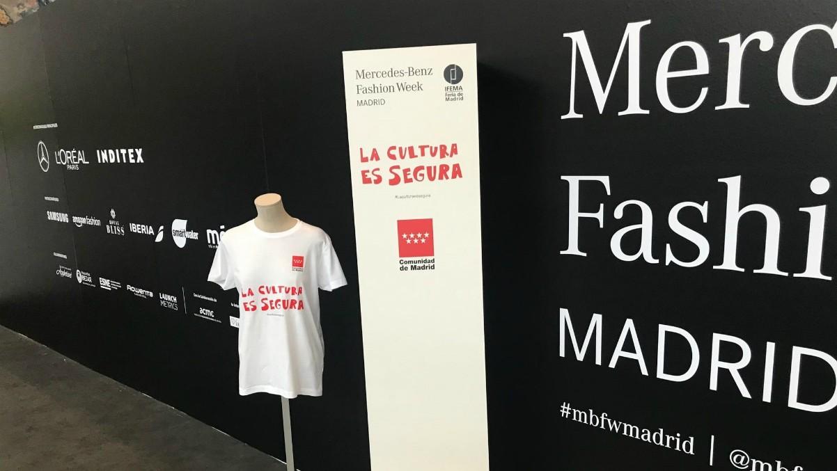 Campaña 'La cultura es segura' en la Mercedes-Benz Fashion Week Madrid – COMUNIDAD DE MADRID