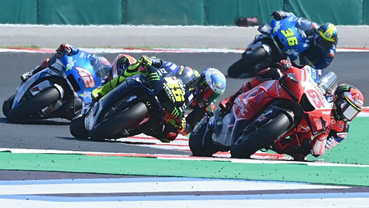 Imagen de la carrera del Gran Premio de San Marino. (AFP)