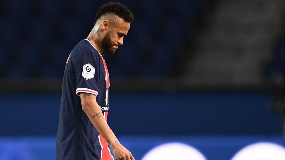 Neymar, expulsado en el PSG-Olympique de Marsella. (AFP)