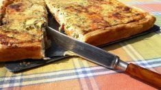 Receta de Pastel salado de pavo con verduras y frutos secos