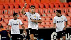 Paulista celebra un gol. (EFE)