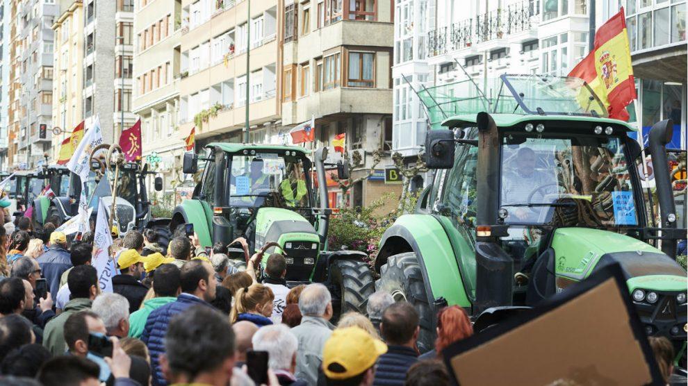 Protesta de agricultores contra el Gobierno, en una imagen de archivo. (Foto: EP)