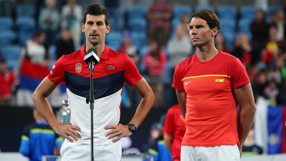 Djokovic y Nadal, en la ATP Cup. (Getty)