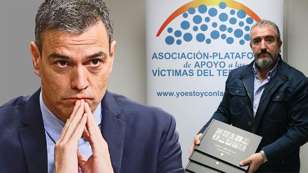 Pedro Sánchez y el presidente de APAVT, Miguel Ángel Folguera